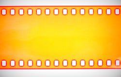 黄色影片小条,宏观射击 库存图片