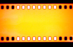黄色影片小条,宏观射击 图库摄影
