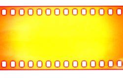 黄色影片小条,宏观射击 免版税库存图片