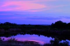 紫色得克萨斯日落 免版税库存图片