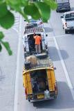 黄色微型卡车出租汽车chiangmai 库存照片