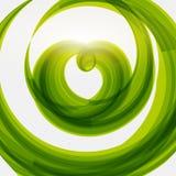 绿色心脏形状eco友好的背景 库存图片