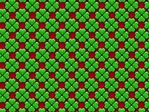 绿色心脏4叶子三叶草 免版税库存图片