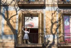 色情博物馆在巴塞罗那,卡塔龙尼亚,西班牙 免版税库存图片