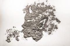 色情狂者头打击在灰做的尘土例证 库存图片