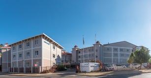 色情的Mediclinic医院,温得和克的郊区 库存照片
