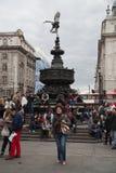 色情雕象,皮卡迪利广场,伦敦 图库摄影