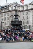 色情雕象,皮卡迪利广场,伦敦 库存照片