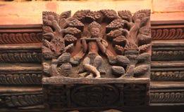 色情雕刻寺庙patan尼泊尔。 免版税库存照片