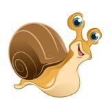 绿色愉快的蜗牛 免版税图库摄影