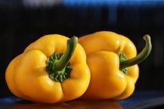 黄色意大利辣味香肠 免版税图库摄影