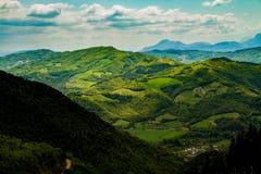 绿色意大利风景Furlo 免版税图库摄影