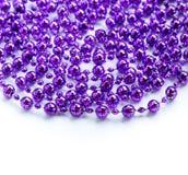 紫色成串珠状在白色隔绝的诗歌选 免版税库存照片