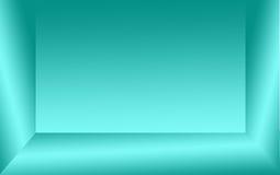 绿色或蓝绿色颜色和灰色梯度墙壁抽象背景  免版税库存图片