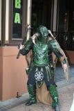 绿色战士衣服 库存照片