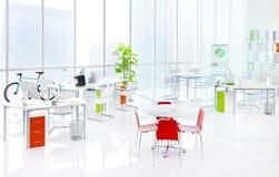 绿色户内办公室家具概念 免版税库存照片