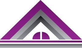 紫色房地产商标议院 图库摄影