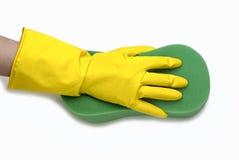 黄色手套 免版税图库摄影