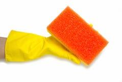 黄色手套 免版税库存照片