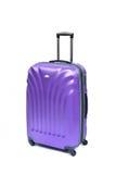 紫色手提箱 免版税图库摄影