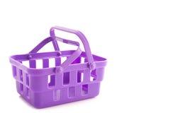 紫色手提篮 免版税图库摄影