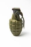 绿色手榴弹 免版税库存照片