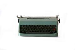 绿色打字机 免版税库存照片