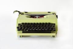 黄色打字机 免版税库存照片