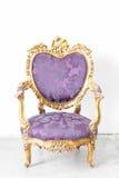 紫色扶手椅子 图库摄影