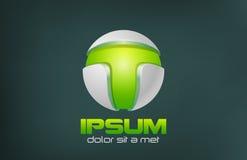 绿色技术摘要传染媒介商标设计。比赛 向量例证