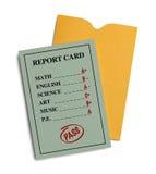绿色报告卡 库存照片