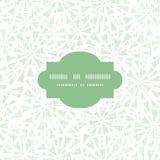 绿色抽象三角纺织品纹理框架 免版税图库摄影