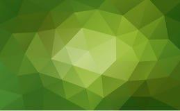 绿色抽象几何背景,弄皱的三角,低多样式 向量例证