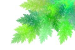 绿色抽象分数维样式 免版税库存照片
