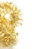 黄色抽象圣诞节装饰背景 库存照片