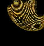 黄色抽象技术背景 库存例证