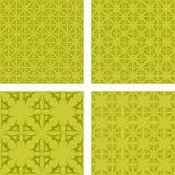 黄色抽象无缝的样式背景集合 向量例证