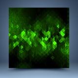 绿色抽象模板 免版税库存照片