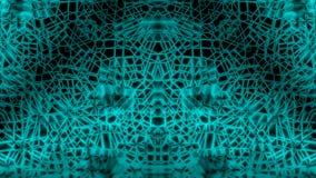 绿色抽象缠结网络背景 免版税库存图片