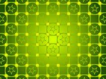 绿色抽象背景、圈子和正方形,星 免版税库存图片
