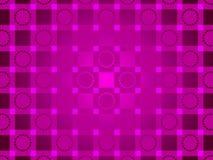 紫色抽象背景、圈子和正方形 库存图片