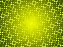 绿色抽象背景、微粒圈子和正方形 库存图片