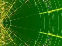 绿色抽象背景、线和光 免版税库存照片