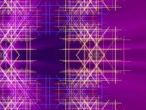 紫色抽象背景、线和光 库存图片