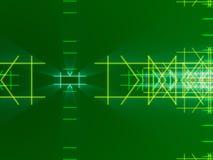 绿色抽象背景、线和光 图库摄影