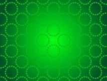 绿色抽象背景,微粒圈子 库存图片
