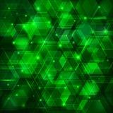 绿色抽象techno背景 库存照片