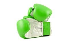 绿色拳击手套 图库摄影