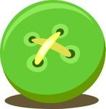 绿色按钮传染媒介 免版税库存图片