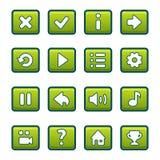 绿色按钮 免版税图库摄影